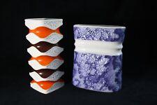 Ernst Fenzl - Royal KPM Porzellan - 2 retro design vases Op-Art