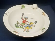 Antique Children's Plate By RIEBER Bavaria Holds Hot/Cold Water UNIQUE/RARE!