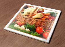 HotPlate Kitchen Trivet Holder Ceramic Tile Vegey basket food health nature
