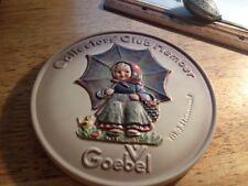 1978 Goebel Collectors' Club Member Plate Number 2 Hum 690