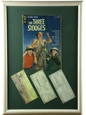 """""""Three Stooges"""" Framed Comic Book w/Autographs Lot 151"""