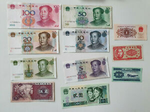 Lot 11 Billets Banknotes Chine China Dont Mao TTB à Neuf unc