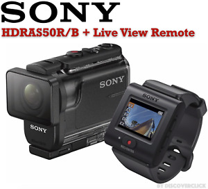 NEW Sony HDRAS50R/B Full HD Action Cam Waterproof Housing Live View Remote BLACK