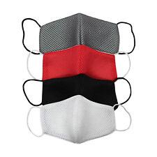 Face Mask Washable UK Reusable Masks Protection Shield Cover - Black Adult