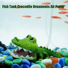 Aquarium Air Operated Crocodile Shape Bubbler Fish Tank Landscaping Ornament *US