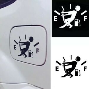 1Pc Funny Car Sticker Pull Fuel Tank Pointer Reflective Vinyl Decal exterior new
