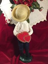 "Byers Choice Caroler, First Edition ""Valentine Boy"" 1982, Orig Gold Foil Label"
