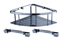 PHOENIX CORNER BASKET SOLID BASE PSP656 STAINLESS STEEL SUITABLE FOR WET AREAS
