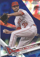 NICK TROPEANO 2017 TOPPS CHROME SAPPHIRE EDITION #354 ONLY 250 MADE