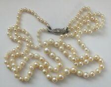 Antique Pearl Necklace Diamond Clasp