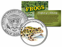 NORTHERN LEOPARD FROG *Collectible Frogs* JFK Half Dollar US Colorized Coin COA