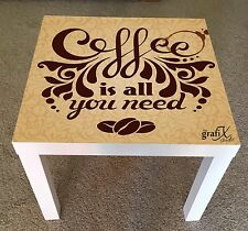 Coffee Vinyl Sticker Suitable For ikea lack Table / Coffee table lk11
