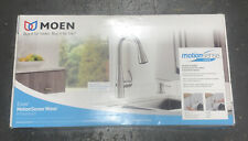 New MOEN Essie 87014EWSRS Touchless Stainless Kitchen Faucet w/Motion Sense Wave