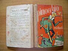 PINOCCHIO COLLODI ILLUSTRATO MUSSINO BEMPORAD FIRENZE OLD BOOK 1936