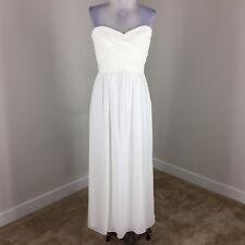 Ralph Lauren M 8 10 White Evening Gown dress Strapless Full Length EUC