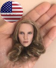 """1/6 Female Head Sculpt Brown Hair For 12"""" PHICEN TBLeague Female Figure"""