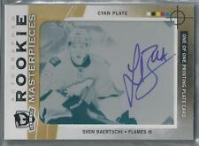 2012-13 UD THE CUP ROOKIE MASTERPIECES CYAN PLATE SVEN BAERTSCHI RC AUTO 1/1!!