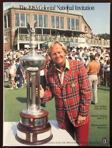1983 Colonial National Invitation Golf Program Jack Nicklaus MINT CONDITION