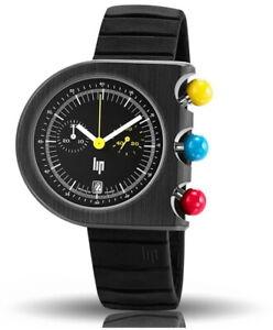 Lip Mach 2000 Chronograph Design Quartz Stainless Steel Small Second Men's Watch