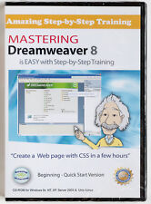 Mastering Dreamweaver 8 Amazing eLearning training tutorial PC CD-ROM NEW SEALED