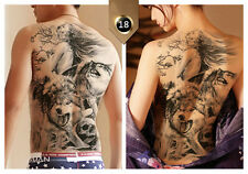 Temporary Tattoos Body Large Back Art Fake Tattoo Stickers Waterproof Pop