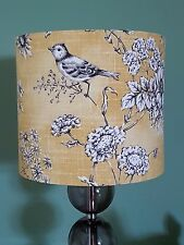 HANDMADE 20cm FABRIC LAMPSHADE ILIV Finch Toile Bird Floral cottage yellow farm