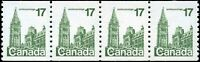 Canada Mint NH VF Scott #806i 17c 1979 Strip of 4 Wide Spacing Definitive Stamps