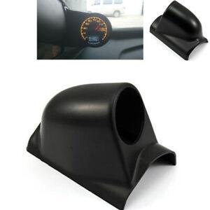 Universal Car Black Pillar 1 Hole Single Gauge Meter Mount Holder Pod 60mm