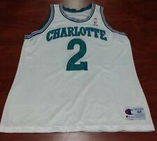 VTG Champion Larry Johnson Charlotte Hornets NBA Jersey #2 White Adult 48