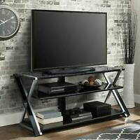 TV Stand Storage for TVs up to 65 inches with 3 Display Options for Flat Screen