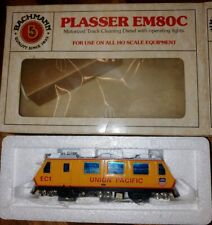 Bachmann, Plasser EM80, Union Pacific track cleaning diesel w/lights. NIB. (F13)