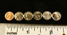 "SET of SIX ""MINI"" Coins - Early 1900s ERA - Indian Head Cent Buffalo Nickel etc"