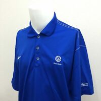 Nike Golf Polo Shirt Mens XL Blue Volkswagen Logo Short Sleeve Casual Golf