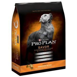 Purina Pro Plan Adult Shredded Blend Chicken & Rice Formula Dry Dog Food 35-lb
