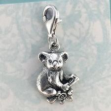 Sterling Silver 925 Australian Koala Charm, Australian Made