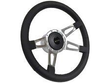 1969 - 1989 Pontiac GTO 9 Bolt Leather Steering Wheel Kit | Quad Slotted Spoke