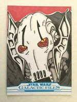 2018 Star Wars Galactic Files SKETCH CARD - General Grievous by Bobby Blakey 1/1
