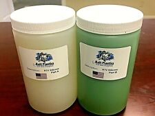 RTV PLATINUM SILICONE RUBBER MOLDING - Two PINTS {32oz} , High Strength