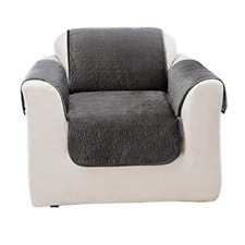 SURE FIT Elegant Vermicelli Chair Furniture Protector Gunmetal NEW
