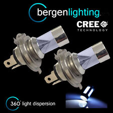 2X H4 WHITE 4 CREE LED FRONT MAIN BEAM & DIPPED BEAM HEADLIGHT XENON HM502303