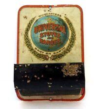 Vtg Antique UNIVERSAL STOVES & RANGES Match Safe Holder Tin Good Litho