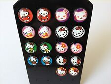 NEW 925 Sterling Silver 8mm Cute Hello Kitty Stud Earrings *See Special Offer*
