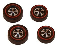 4 Brightvision Redline Wheels – 2 Large & 2 Med Cap Deep Dish Dull Chrome Style