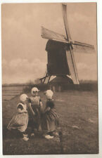 Houten Molentje - Zeeland Photo Postcard c1910 Holland