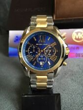 NEW MICHAEL KORS MK5976 LADIES BRADSHAW TWO-TONE 43MM CASE STAINLESS STEEL WATCH
