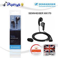 New Genuine SENNHEISER Earphones MX 170 (Black)