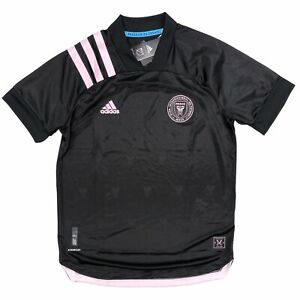 Adidas Authentic Inter Miami CF MLS Soccer Away Jersey Black Pink EH8635