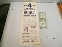 Aug 18, 1934 New York Giants vs Cincinnati Reds B&O RR Poster Terry, Ott, Hubbel