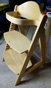 Roba Treppenhochstuhl Babystuhl mitwachsend Sit up Click Holz natur Trippenstuhl