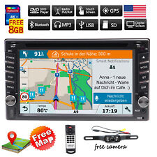 Car DVD Player 2DIN In Dash GPS Navigation+Map CD+Bluetooth+Radio Stereo+Camera